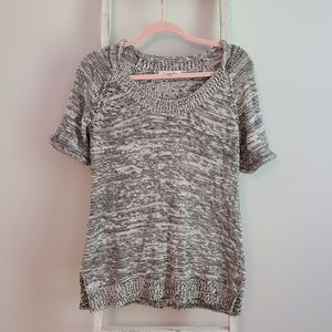 Cabi♡ Marled pullover short sleeve sweater